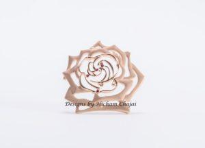 Rosa de oro - Diseño de Hicham Chajai con caligrafía árabe